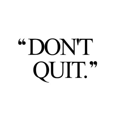 Don't Quit | Exercise And Training Inspiration Quote / @spotebi