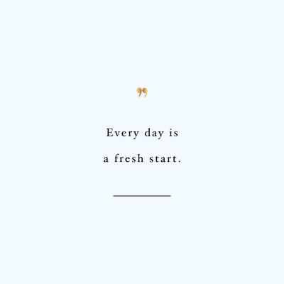Fresh Start   Exercise And Training Motivation Quote / @spotebi