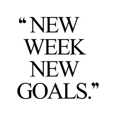 New Week New Goals   Exercise And Fitness Motivation / @spotebi