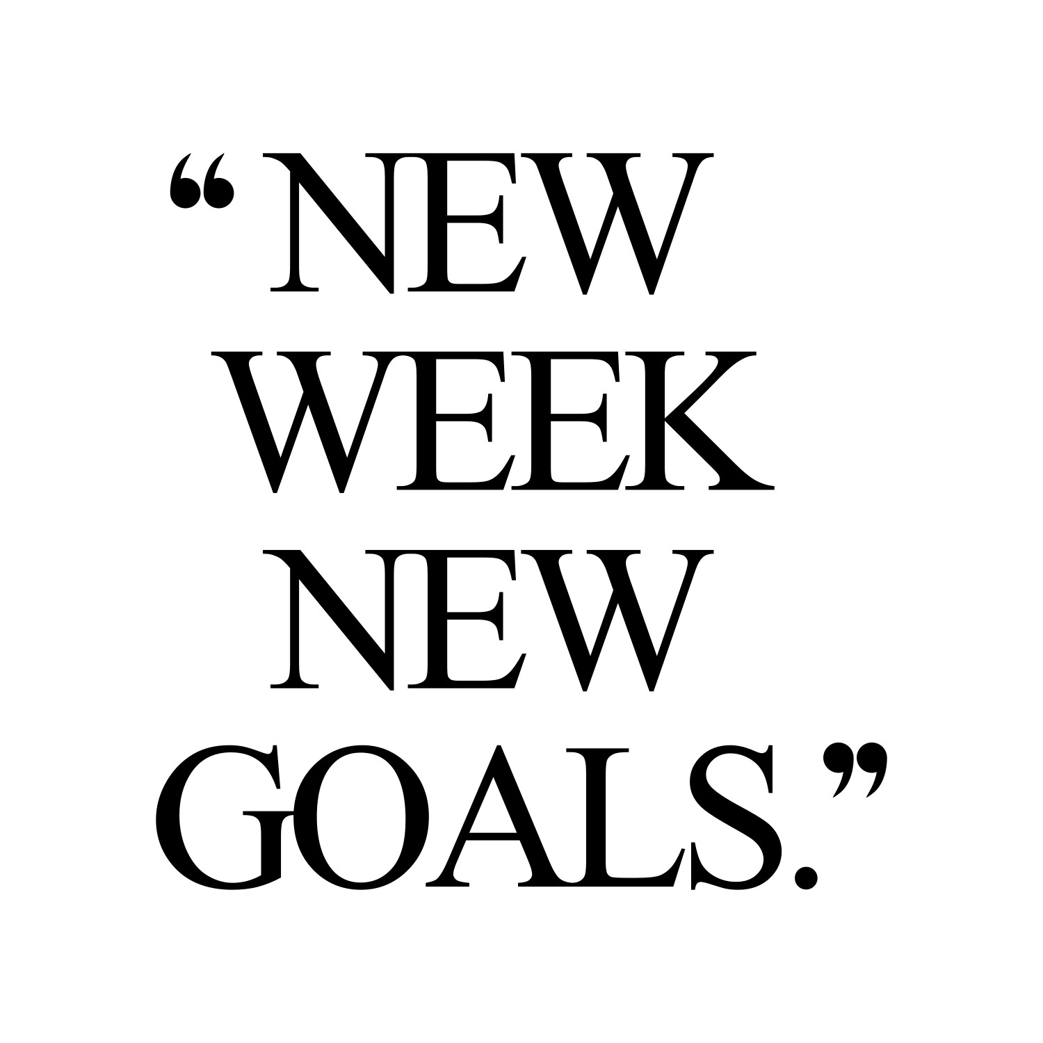 New Week New Goals | Exercise And Fitness Motivation