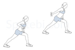 One arm triceps kickback exercise guide with instructions, demonstration, calories burned and muscles worked. Learn proper form, discover all health benefits and choose a workout. https://www.spotebi.com/exercise-guide/one-arm-triceps-kickback/
