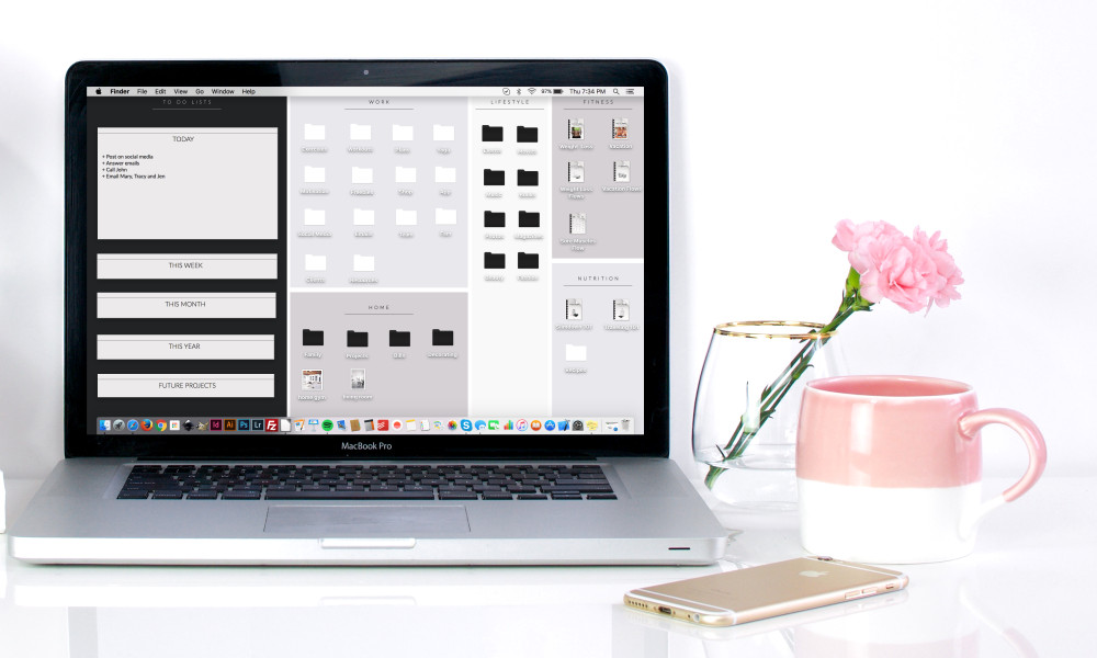 Style your life with our Free Organizational Wallpaper! Boost your productivity and keep your workspace clean, cute and tidy! https://www.spotebi.com/fitness-freebies/organizational-wallpaper/