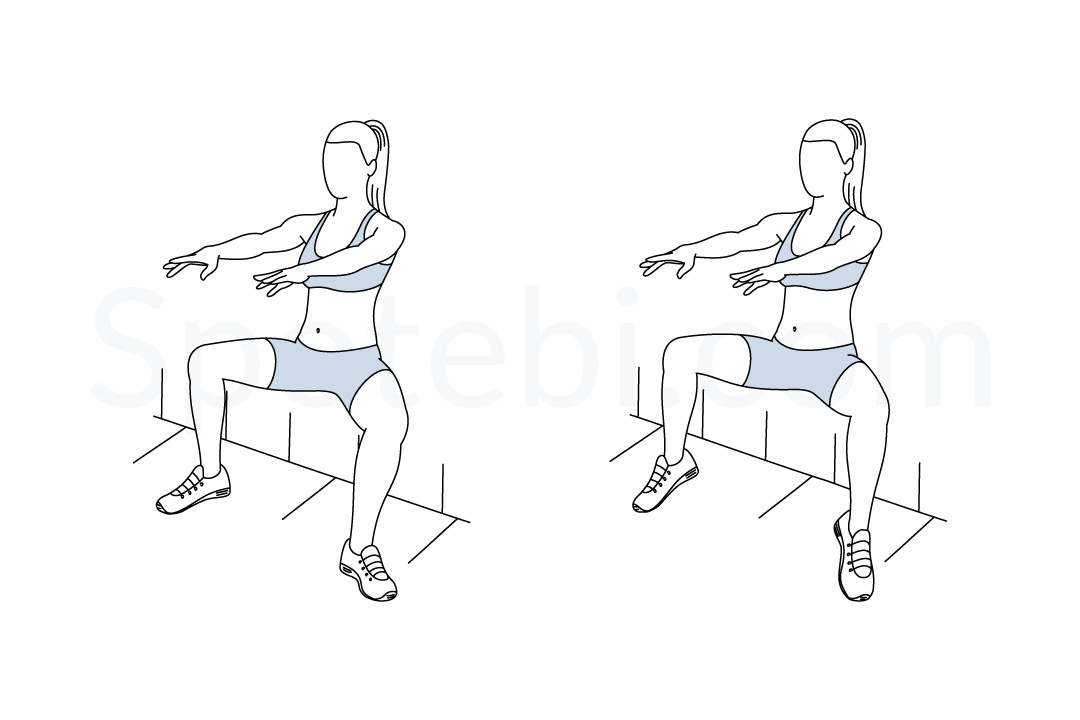 Wall sit plie calf raise exercise guide with instructions, demonstration, calories burned and muscles worked. Learn proper form, discover all health benefits and choose a workout. https://www.spotebi.com/exercise-guide/wall-sit-plie-calf-raise/