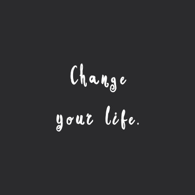 Change Your Life | Exercise And Fitness Inspirational Quote / @spotebi
