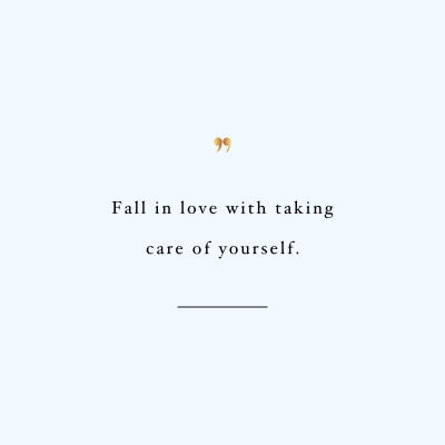 Fall In Love With Yourself | Inspirational Fitness And Weight Loss Quote / @spotebi