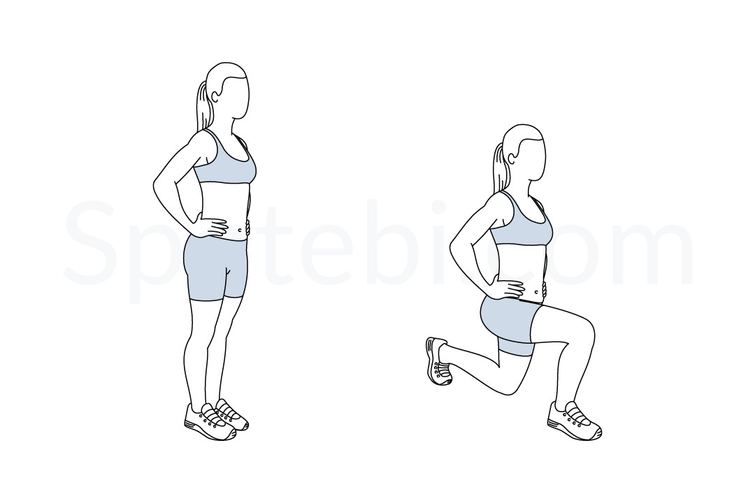 Walking Lunges | Illustrated Exercise Guide