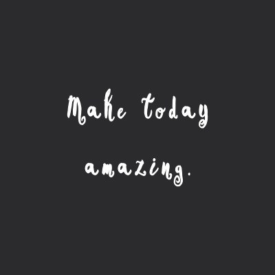 Make Today Amazing | Training And Weight Loss Motivational Quote / @spotebi