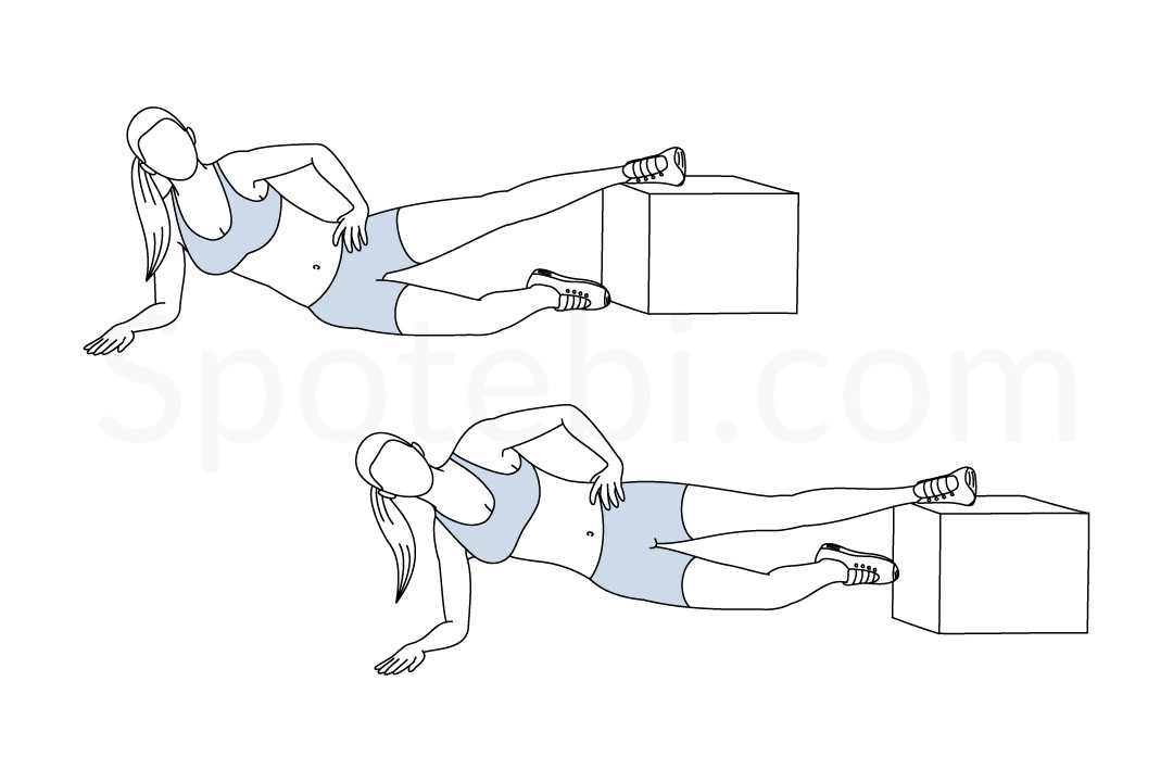 Inner thigh raise to plank exercise guide with instructions, demonstration, calories burned and muscles worked. Learn proper form, discover all health benefits and choose a workout. https://www.spotebi.com/exercise-guide/inner-thigh-raise-to-plank/