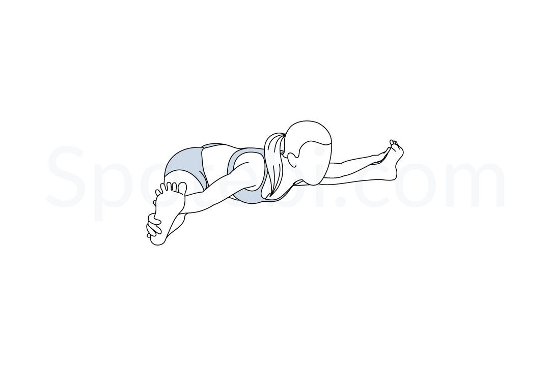 Wide angle seated forward bend pose (Upavistha Konasana) instructions, illustration, and mindfulness practice. Learn about preparatory, complementary and follow-up poses, and discover all health benefits. https://www.spotebi.com/exercise-guide/wide-angle-seated-forward-bend-pose/
