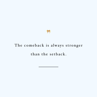The Comeback Exercise And Healthy Eating Motivational Quote / @spotebi