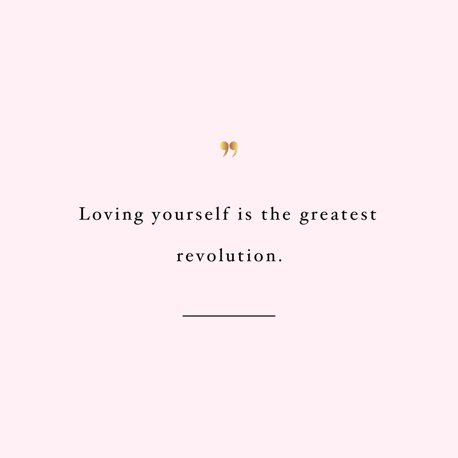 Loving yourself revolution! Browse our collection of inspirational exercise and fitness quotes and get instant weight loss and healthy lifestyle motivation. Stay focused and get fit, healthy and happy! https://www.spotebi.com/workout-motivation/loving-yourself-revolution/