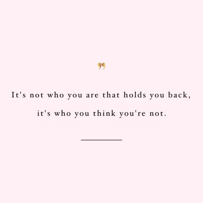 Don't Hold Yourself Back | Inspirational Healthy Lifestyle Quote / @spotebi