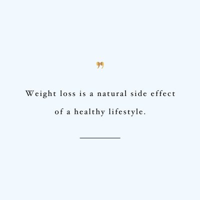 Weight Loss Isn't The Focus | Motivational Healthy Lifestyle Quote / @spotebi