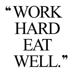 Work Hard Eat Well | Fitness And Healthy Lifestyle Inspiration / @spotebi