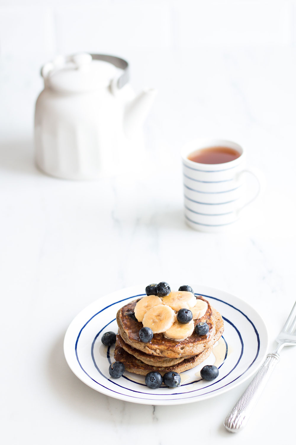 Blueberry Banana Pancakes Recipe: Yummy, gluten-free, high-protein, healthy and low-calorie! https://www.spotebi.com/recipes/blueberry-banana-pancakes/