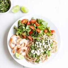 Chimichurri Shrimp Pasta / @spotebi