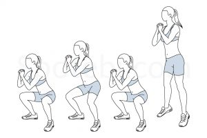 Double pulse squat jump exercise guide with instructions, demonstration, calories burned and muscles worked. Learn proper form, discover all health benefits and choose a workout. https://www.spotebi.com/exercise-guide/double-pulse-squat-jump/