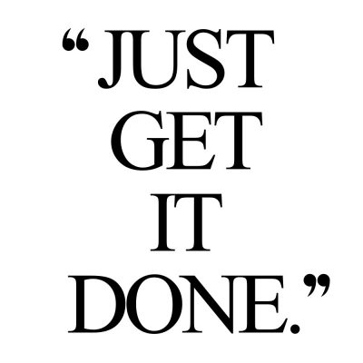 Just Get It Done | Inspirational Fitness And Healthy Lifestyle Quote / @spotebi