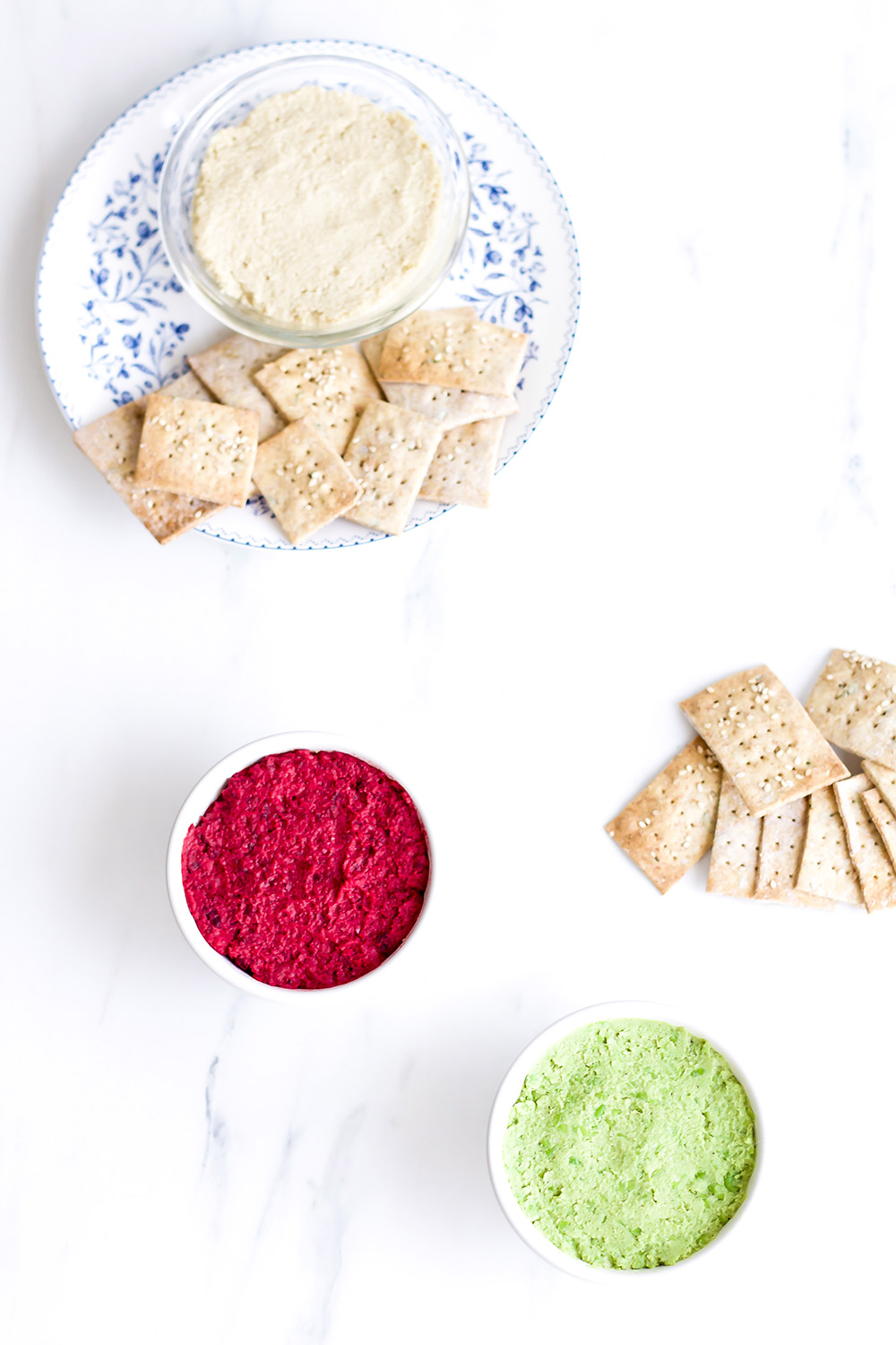 Healthy Hummus 3 Ways: Three protein-packed hummus recipes filled with healthy ingredients to reduce inflammation! https://www.spotebi.com/recipes/healthy-hummus-three-ways/
