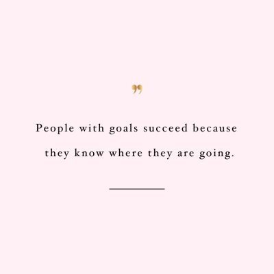 Let Your Goals Guide You | Self Love And Wellness Motivational Quote / @spotebi