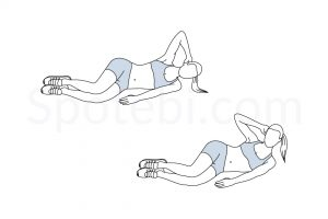 Lying Side Crunch Exercise Guide / @spotebi