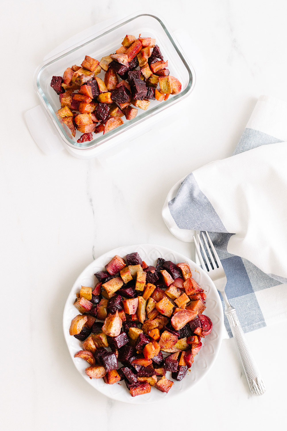 Oven Roasted Root Vegetables Recipe: A healthier and nutrient-rich alternative to classic roast potatoes. https://www.spotebi.com/recipes/oven-roasted-root-vegetables/
