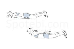 Prone Back Extension Exercise Guide / @spotebi