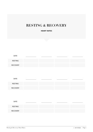 Resting And Recovery Heart Rates Template / @spotebi