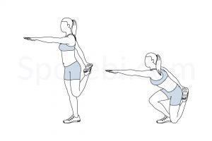 Shrimp squat exercise guide with instructions, demonstration, calories burned and muscles worked. Learn proper form, discover all health benefits and choose a workout. https://www.spotebi.com/exercise-guide/shrimp-squat/