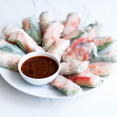Shrimp Summer Rolls Recipe / @spotebi
