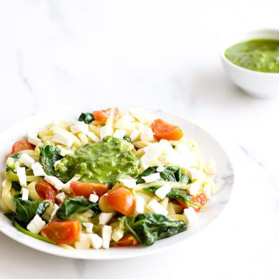 Zucchini Noodles With Basil Pesto Recipe / @spotebi