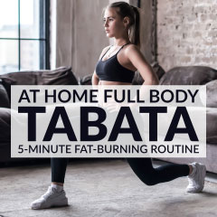 5-Minute Fat Burning Tabata Workout / @spotebi
