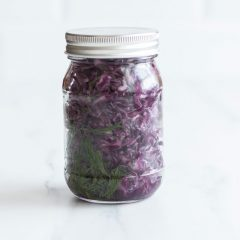 Fermented Purple Sauerkraut Recipe / @spotebi