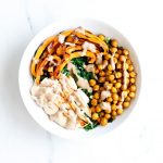 Roasted Chickpea Salad Recipe With Tahini Dressing
