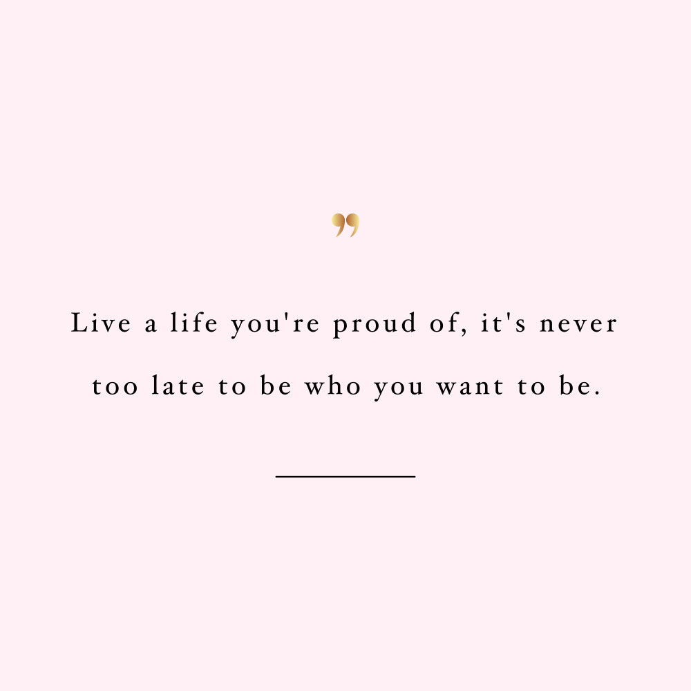 Live A Life Youre Proud Of Training And Healthy Eating Quote
