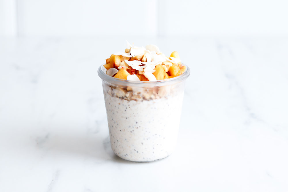 Very Berry & Peaches 'n' Cream Overnight Oats Recipes made with Kefir and Date Syrup! https://www.spotebi.com/recipes/very-berry-peaches-n-cream-overnight-oats/