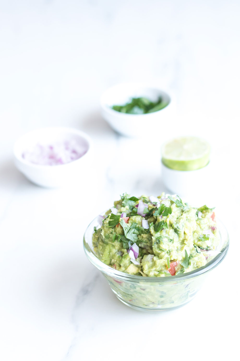 Perfect Chunky Guacamole Recipe: Full of healthy fats, nutrients, and calorie conscious! https://www.spotebi.com/recipes/perfect-chunky-guacamole/
