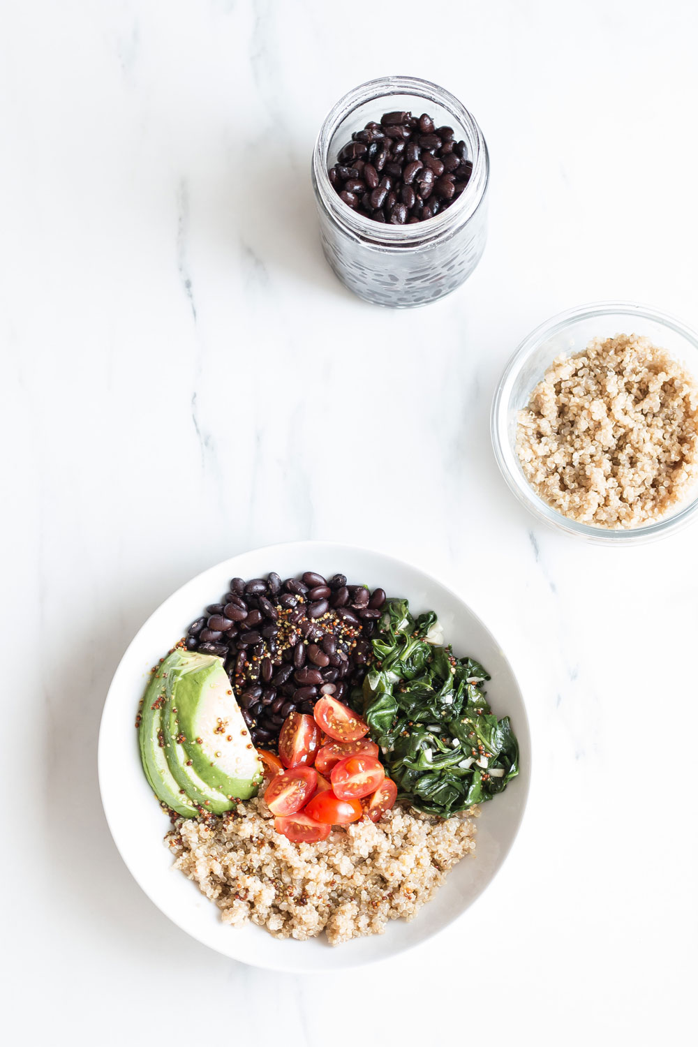 Plant-Based Black Bean & Quinoa Bowl Recipe: The ideal lunch for a busy day and a smart girl! https://www.spotebi.com/recipes/plant-based-black-bean-quinoa-bowl/