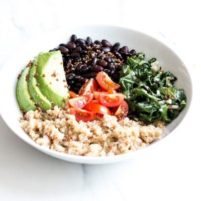 Plant-Based Black Bean & Quinoa Bowl Recipe / @spotebi