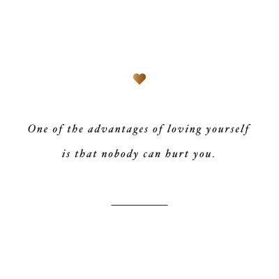 Nobody Can Hurt You   Self-Love Quote / @spotebi