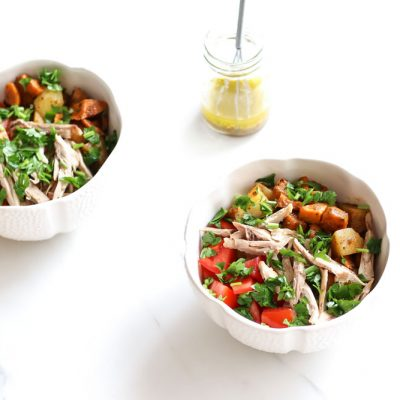 Cajun-Spiced Potato and Chicken Salad Recipe / @spotebi