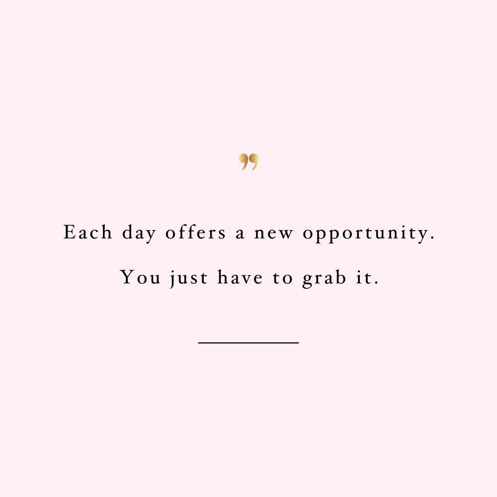 New day new opportunity! Browse our collection of motivational self-love quotes and get instant fitness and wellness inspiration. Stay focused and get fit, healthy and happy! https://www.spotebi.com/workout-motivation/new-day-new-opportunity/