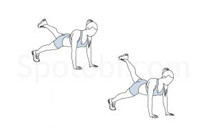 Plank leg extension pulses exercise guide with instructions, demonstration, calories burned and muscles worked. Learn proper form, discover all health benefits and choose a workout. https://www.spotebi.com/exercise-guide/plank-leg-extension-pulses/