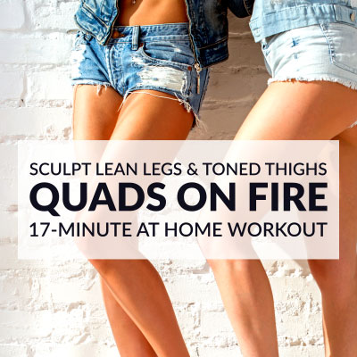Get your Quads On Fire with this At Home QUAD WORKOUT For Women! / @spotebi