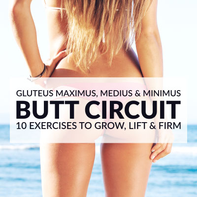 Grow Your Booty At Home with our Super-Effective Glutes Workout / @spotebi