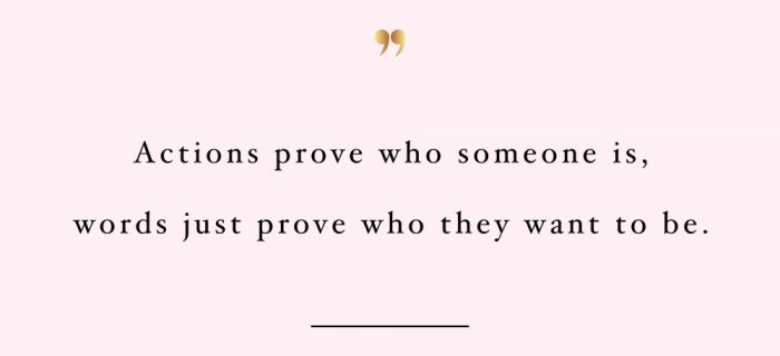 Actions Prove Who Someone Is | Self-Love And Fitness Motivation