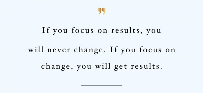 Focus On Change | Self-Love And Fitness Motivational Quote