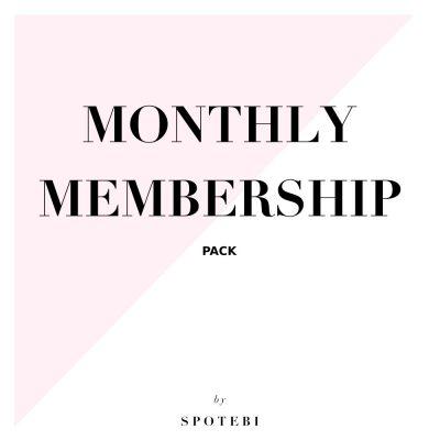Monthly Membership Pack / @spotebi