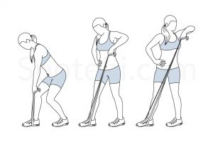 Lawnmower Band Pull Exercise Guide / @spotebi