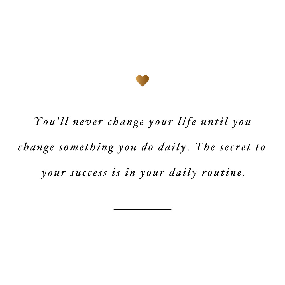 The secret to success! Browse our collection of inspirational self-love and fitness quotes and get instant health and wellness motivation. Stay focused and get fit, healthy and happy! https://www.spotebi.com/workout-motivation/the-secret-to-success/